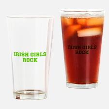 Irish Girls Rock-Fre l green 400 Drinking Glass