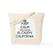 Keep calm you live in El Cajon California Tote Bag