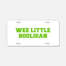 Wee little hooligan-Fre l green Aluminum License P