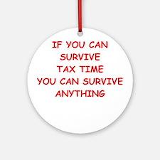 tax Ornament (Round)