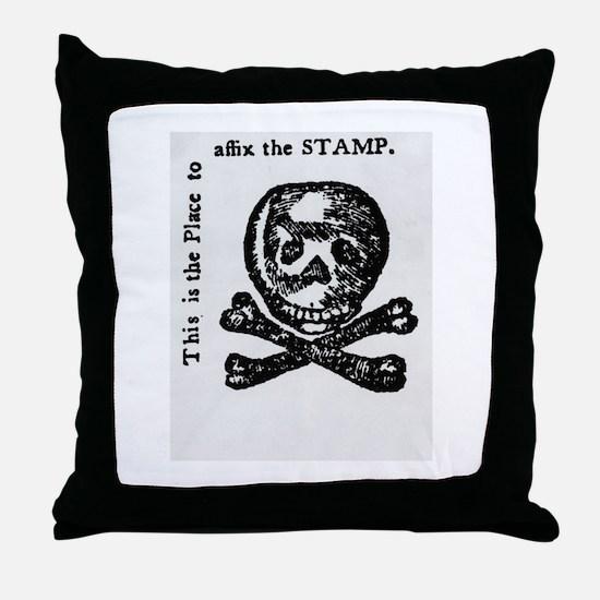 stamp act Throw Pillow