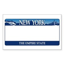 New York - The Empire State 2001 License p Decal