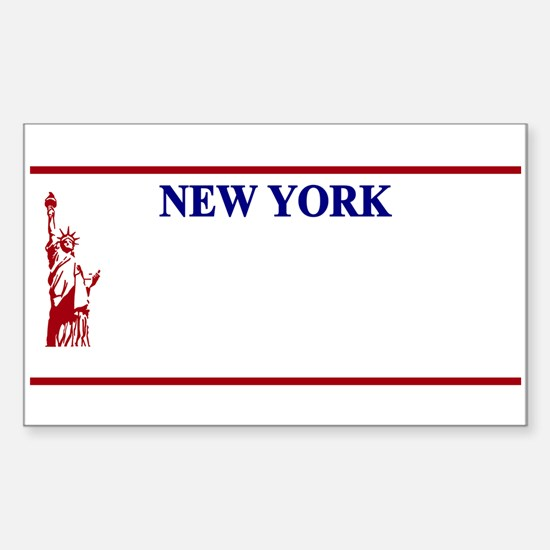NY - Statue of Liberty Vanity Blank licens Decal