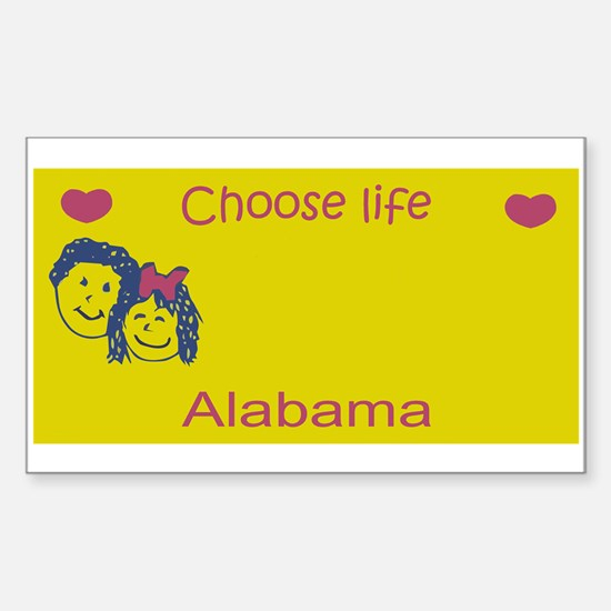 AL - Choose Life blank license plate desi Decal