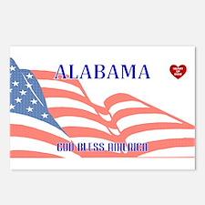 AL - God Bless America bl Postcards (Package of 8)