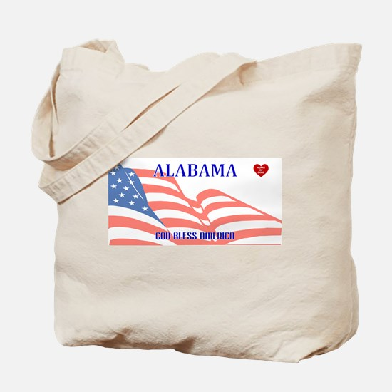 AL - God Bless America blank license plat Tote Bag