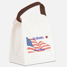 AL - God Bless America blank lice Canvas Lunch Bag