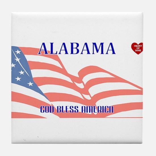AL - God Bless America blank license Tile Coaster