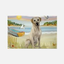 Rowboat & Yellow Lab Rectangle Magnet