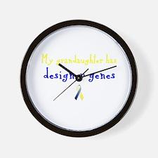 Designer Genes Grandaughter Ribbon Wall Clock