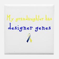 Designer Genes Grandaughter Ribbon Tile Coaster