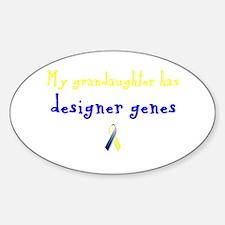 Designer Genes Grandaughter Ribbon Oval Decal