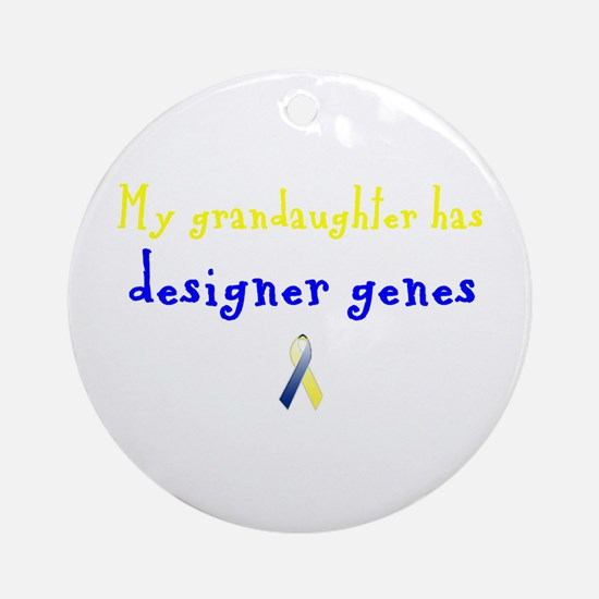 Designer Genes Grandaughter Ribbon Ornament (Round