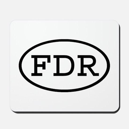 FDR Oval Mousepad