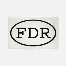 FDR Oval Rectangle Magnet