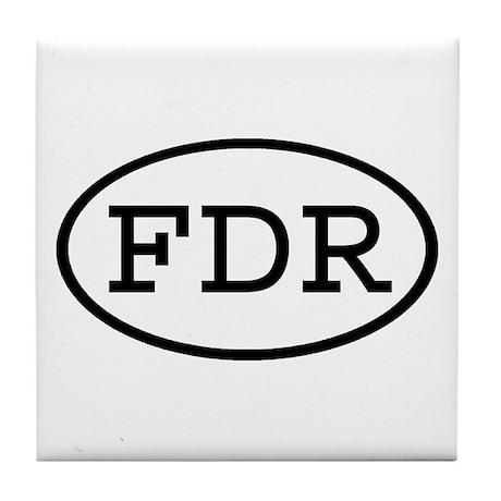 FDR Oval Tile Coaster