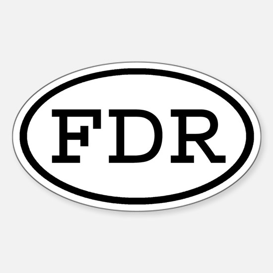 FDR Oval Oval Decal