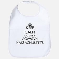 Keep calm you live in Agawam Massachusetts Bib