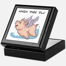 When pigs fly Keepsake Box