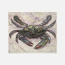 Chesapeake Bay Blue Crab Throw Blanket