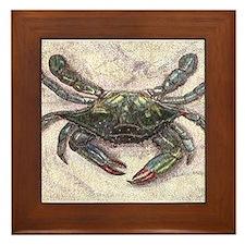 Chesapeake Bay Blue Crab Framed Tile