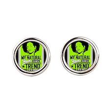 Natural Not Trend (Neon) Round Cufflinks