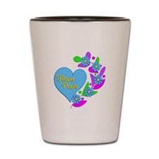 Flower Power Heart Shot Glass