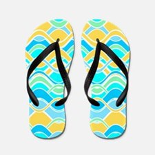 Sun on Waves Flip Flops