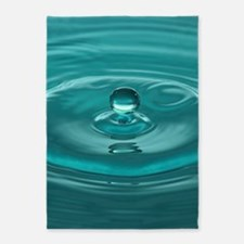 Turquoise WaterDrop 5'x7'Area Rug
