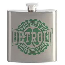 Detroit Irish Drinking Team Flask