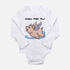 When pigs fly Body Suit