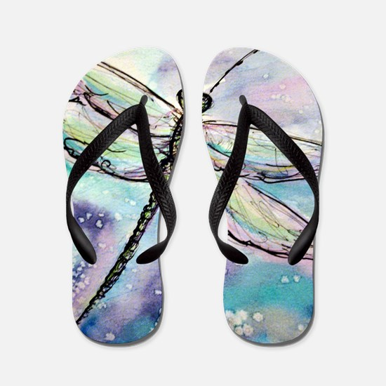 Dragonfly! Nature art! Flip Flops