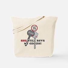 She Revs My Engine 15 Tote Bag