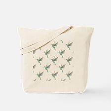 Rainbow Hummingbird Pattern Tote Bag