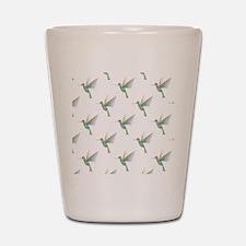 Rainbow Hummingbird Pattern Shot Glass