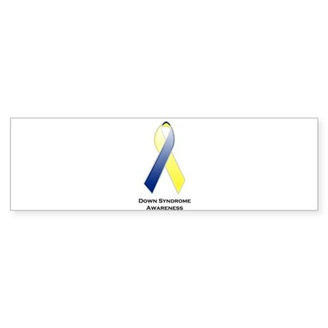 Down Syndrome Awareness Ribbon 2 Bumper Sticker