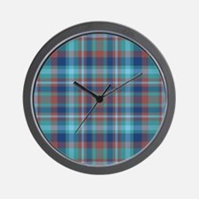 Marsala Plaid Wall Clock