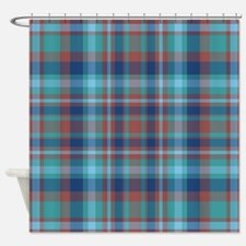 Marsala Plaid Shower Curtain