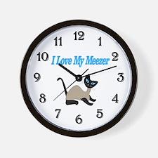 I Love My Meezer Wall Clock