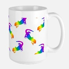 Rainbow Salamander Pattern Mugs