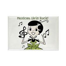 Mexican Girls Rock Rectangle Magnet