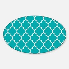 TEAL AND WHITE Moroccan Quatrefoil Decal