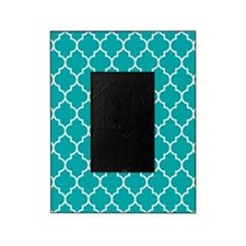 TEAL AND WHITE Moroccan Quatrefoil Picture Frame