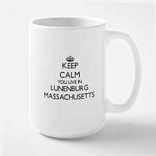 Keep calm you live in Lunenburg Massachusetts Mugs