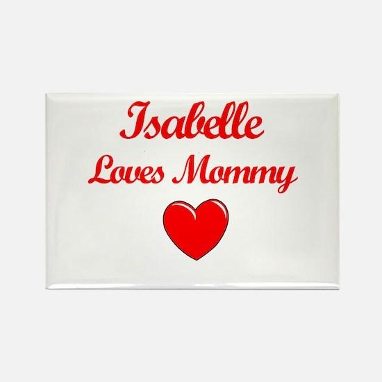 Isabelle Loves Mommy Rectangle Magnet