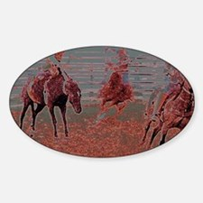 Easy Bronc Ride Sticker (Oval)