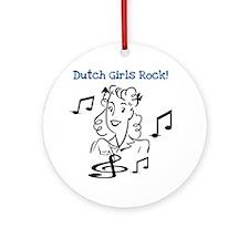 Dutch Girls Rock Ornament (Round)