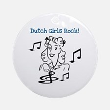 Dutch Girls Rock Ornament (Round)