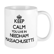 Keep calm you live in Needham Massachusetts Mugs