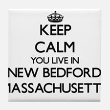 Keep calm you live in New Bedford Mas Tile Coaster